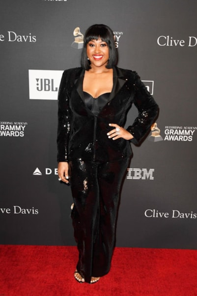BEVERLY HILLS, CA - FEBRUARY 09:  Jazmine Sullivan attends the Pre-GRAMMY Gala and GRAMMY Salute to Industry Icons Honoring Clarence Avant at The Beverly Hilton Hotel on February 9, 2019 in Beverly Hills, California.  (Photo by Frazer Harrison/Getty Images for NARAS)