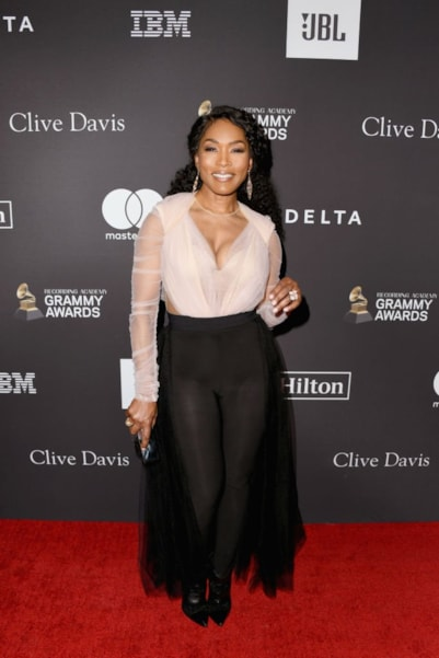 BEVERLY HILLS, CA - FEBRUARY 09:  Angela Bassett attends The Recording Academy And Clive Davis' 2019 Pre-GRAMMY Gala at The Beverly Hilton Hotel on February 9, 2019 in Beverly Hills, California.  (Photo by Jon Kopaloff/Getty Images)