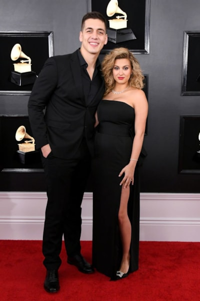 LOS ANGELES, CALIFORNIA - FEBRUARY 10: Andre Murillo and Tori Kelly attend the 61st Annual GRAMMY Awards at Staples Center on February 10, 2019 in Los Angeles, California. (Photo by Jon Kopaloff/Getty Images)