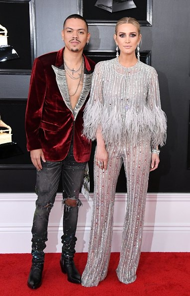 LOS ANGELES, CALIFORNIA - FEBRUARY 10: Evan Ross and Ashlee Simpson attend the 61st Annual GRAMMY Awards at Staples Center on February 10, 2019 in Los Angeles, California. (Photo by Jon Kopaloff/Getty Images)