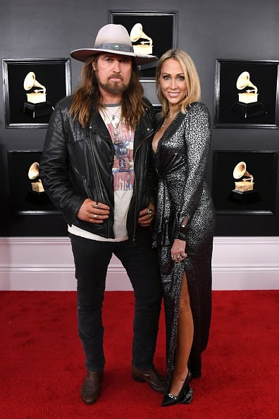 LOS ANGELES, CALIFORNIA - FEBRUARY 10: Billy Ray Cyrus and Tish Cyrus attend the 61st Annual GRAMMY Awards at Staples Center on February 10, 2019 in Los Angeles, California. (Photo by Jon Kopaloff/Getty Images)